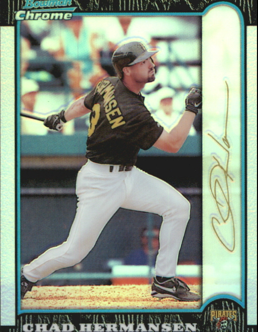 1999 Bowman Chrome Gold Refractors #163 Chad Hermansen