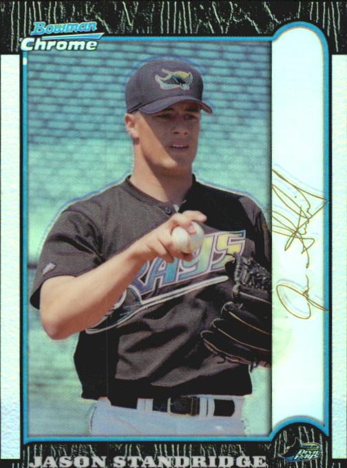 1999 Bowman Chrome Gold Refractors #164 Jason Standridge