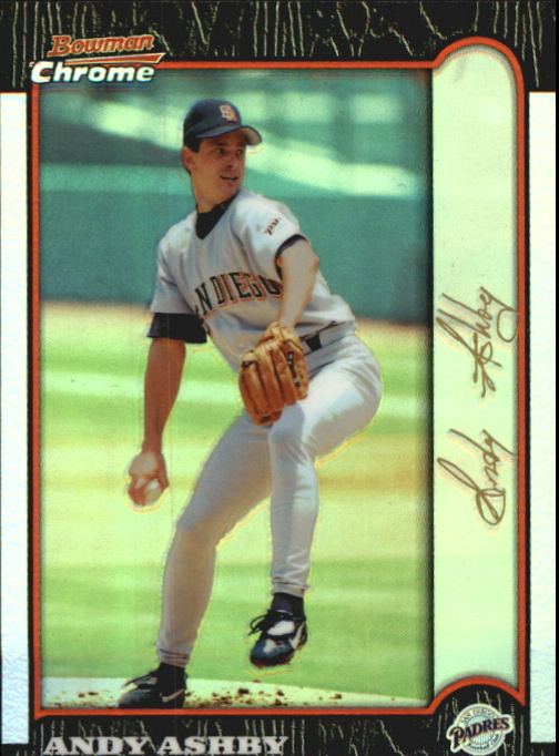 1999 Bowman Chrome Gold Refractors #232 Andy Ashby