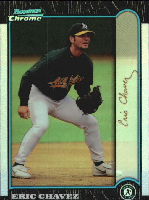 1999 Bowman Chrome Gold Refractors #330 Eric Chavez