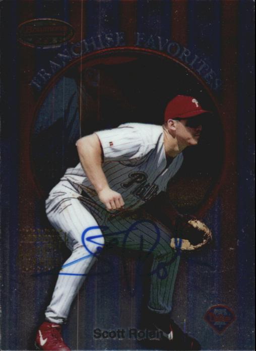 1999 Bowman's Best Franchise Favorites Autographs #FR2A Scott Rolen