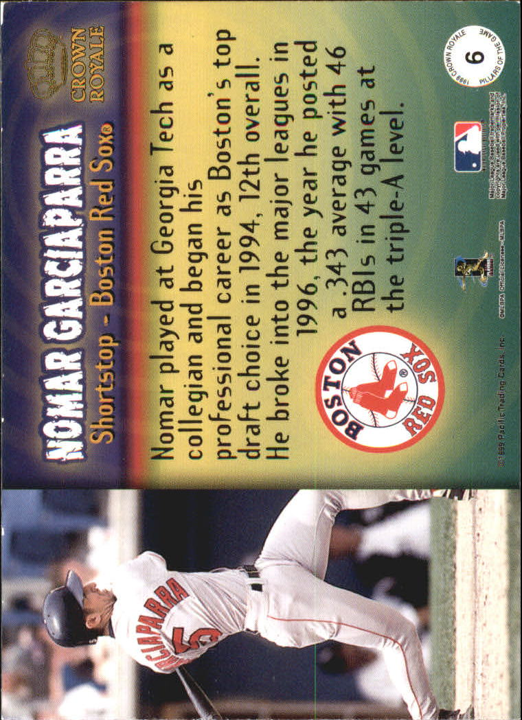1999 Crown Royale Pillars of the Game #6 Nomar Garciaparra back image