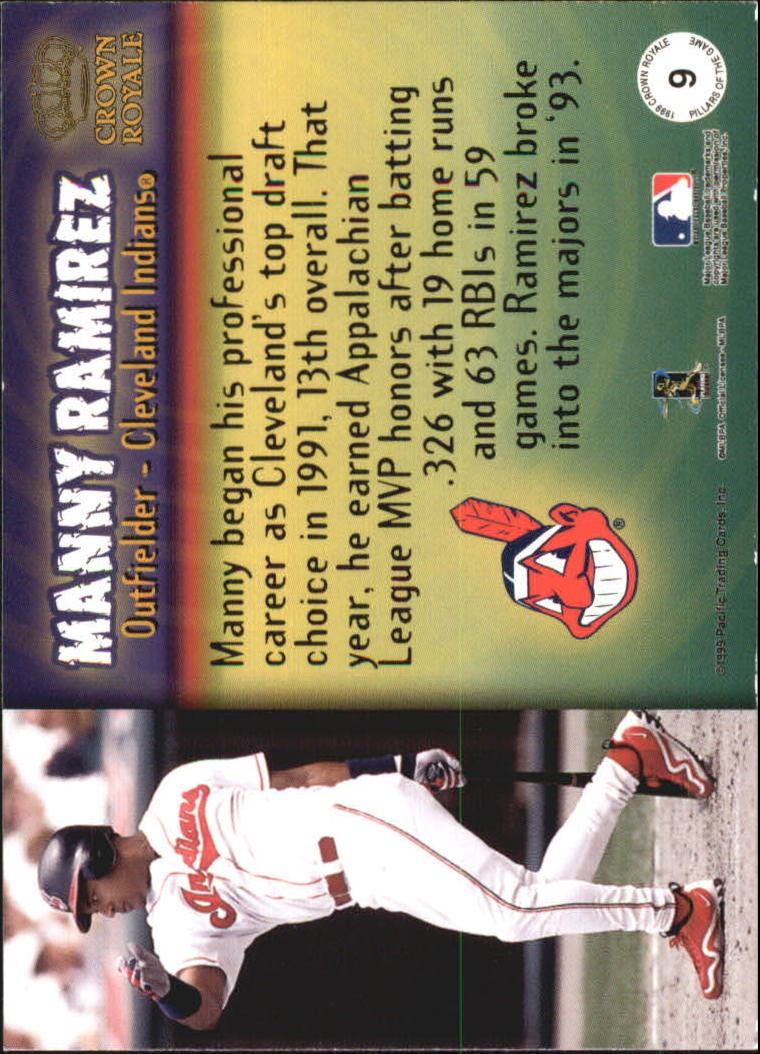 1999 Crown Royale Pillars of the Game #9 Manny Ramirez back image