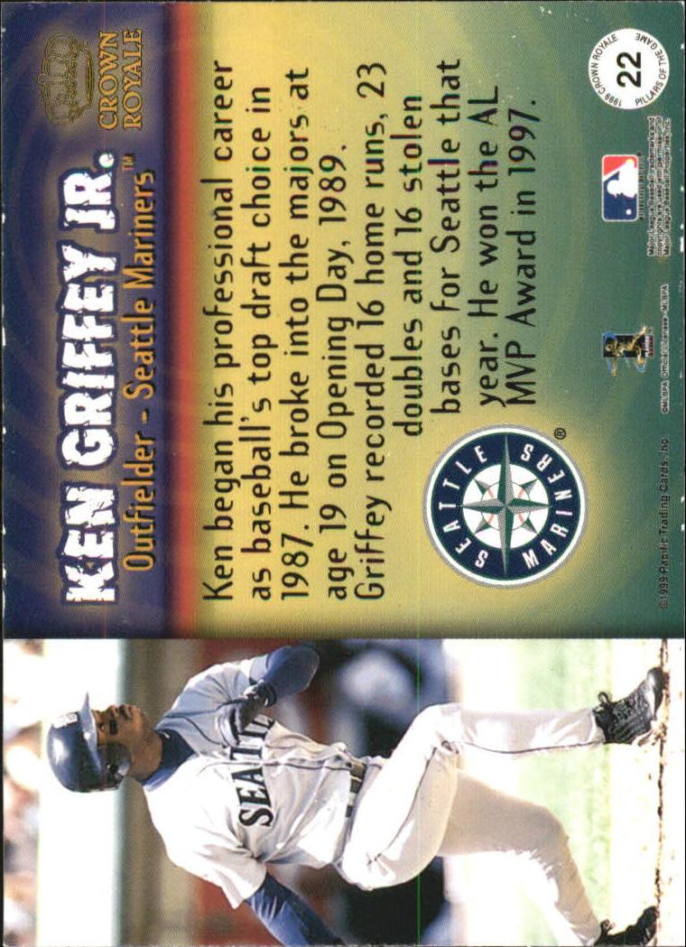 1999 Crown Royale Pillars of the Game #22 Ken Griffey Jr. back image