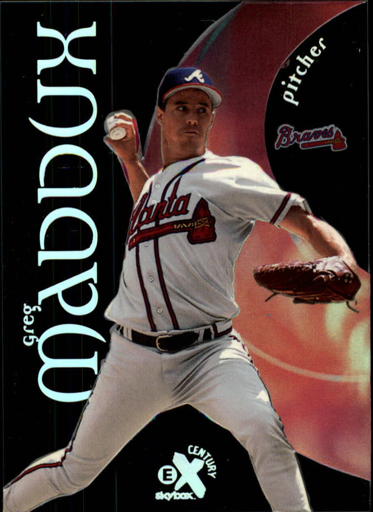 1999 E-X Century #14 Greg Maddux