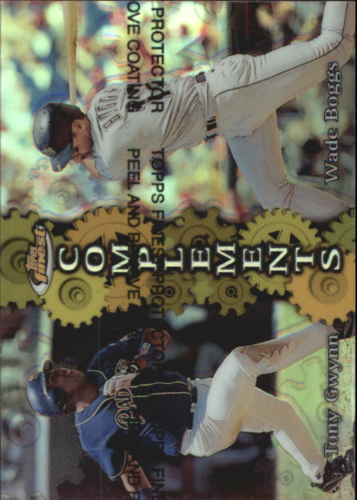 1999 Finest Complements Dual Refractors #C2 Tony Gwynn/Wade Boggs