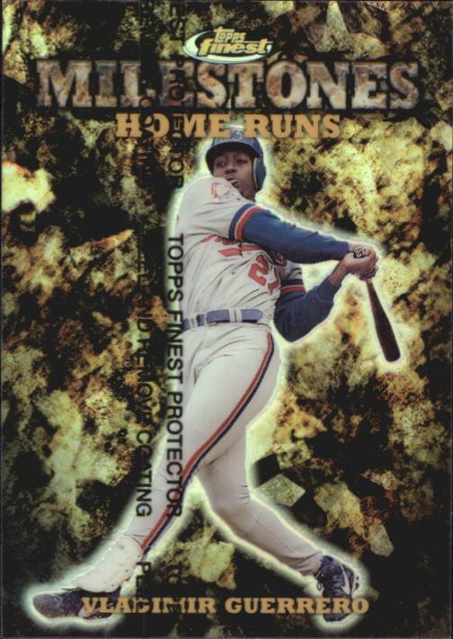 1999 Finest Milestones #M13 Vladimir Guerrero HR