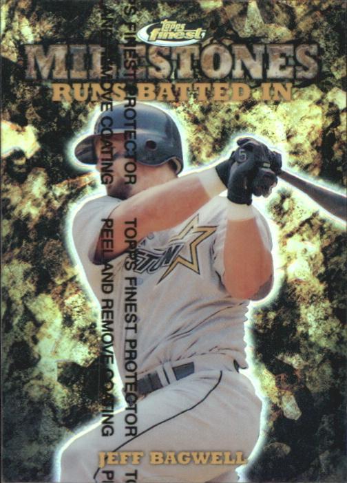 1999 Finest Milestones #M21 Jeff Bagwell RBI