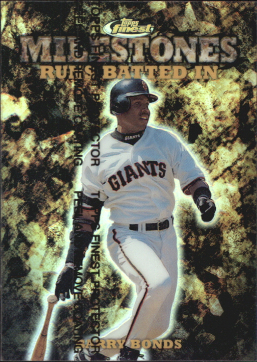 1999 Finest Milestones #M22 Barry Bonds RBI