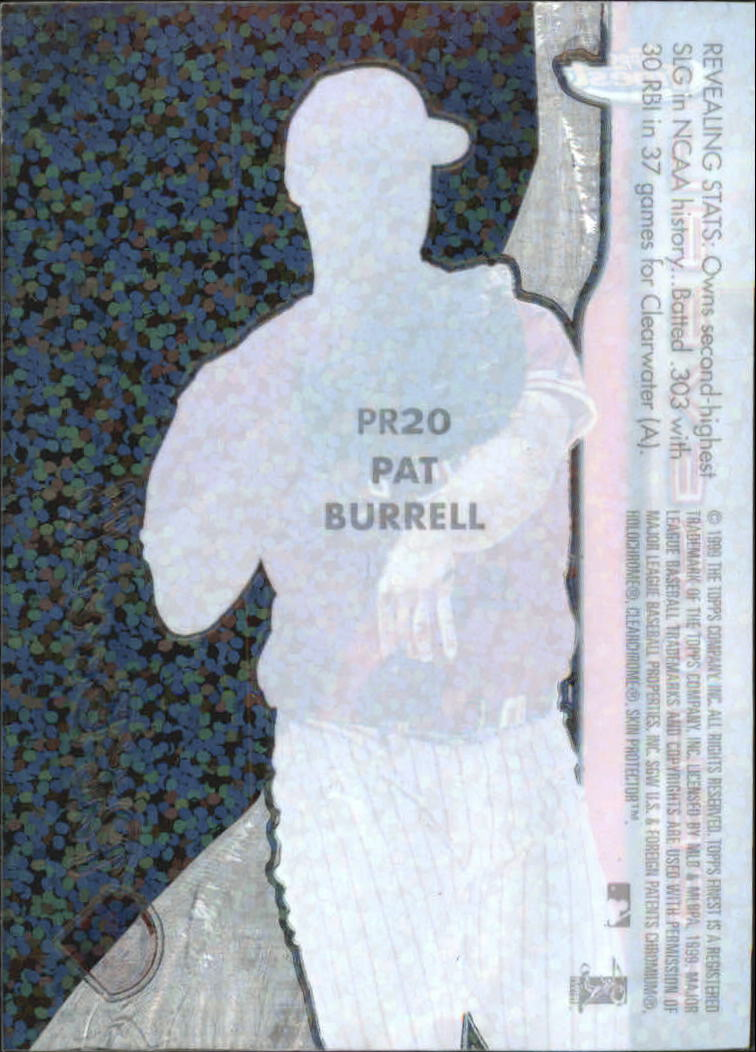 1999 Finest Peel and Reveal Sparkle #20 Pat Burrell back image