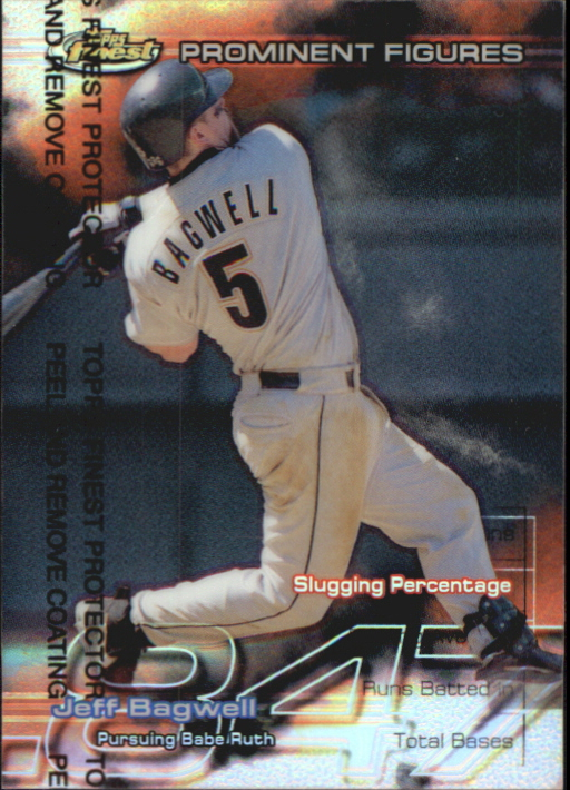 1999 Finest Prominent Figures #PF19 Jeff Bagwell SLG
