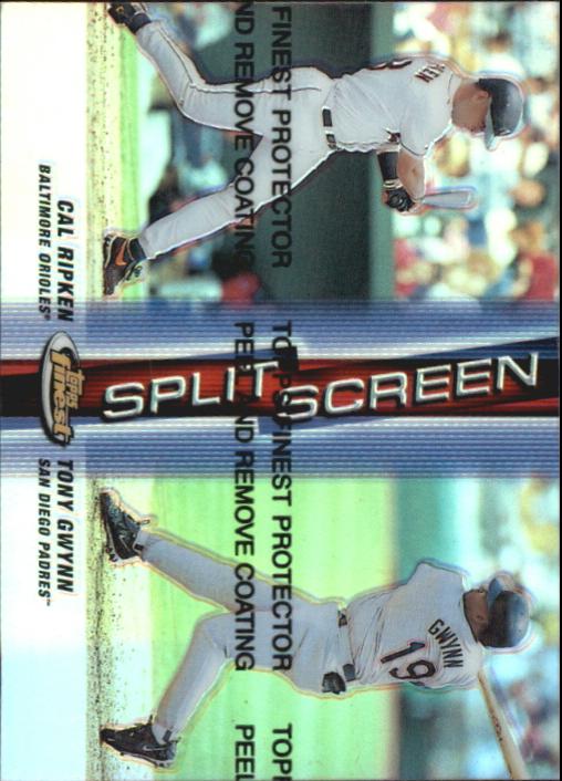 1999 Finest Split Screen Dual Refractors #SS5 Cal Ripken/Tony Gwynn