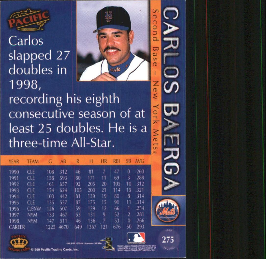1999 Pacific #275 Carlos Baerga back image