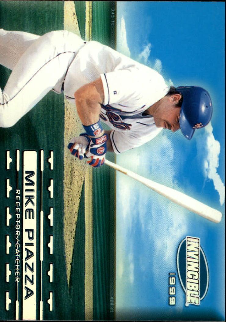 1999 Pacific Invincible Sandlot Heroes #10B Mike Piazza w/Bat