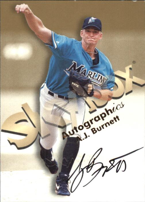 1999 SkyBox Premium Autographics #7 A.J. Burnett