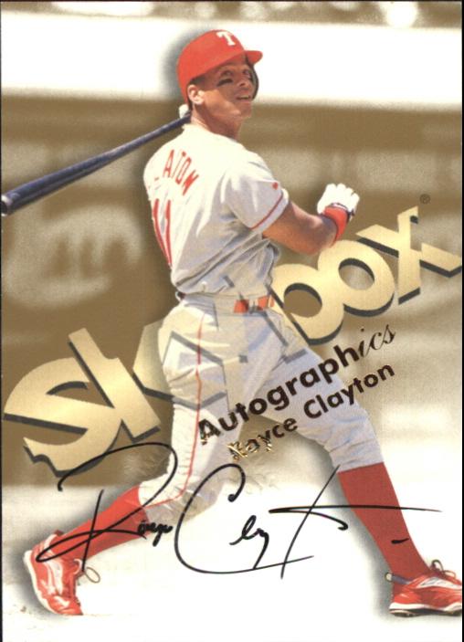1999 SkyBox Premium Autographics #10 Royce Clayton