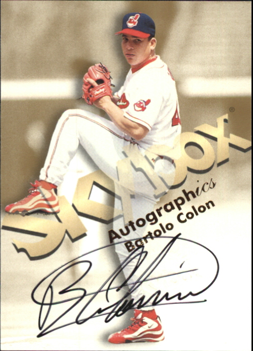 1999 SkyBox Premium Autographics #12 Bartolo Colon