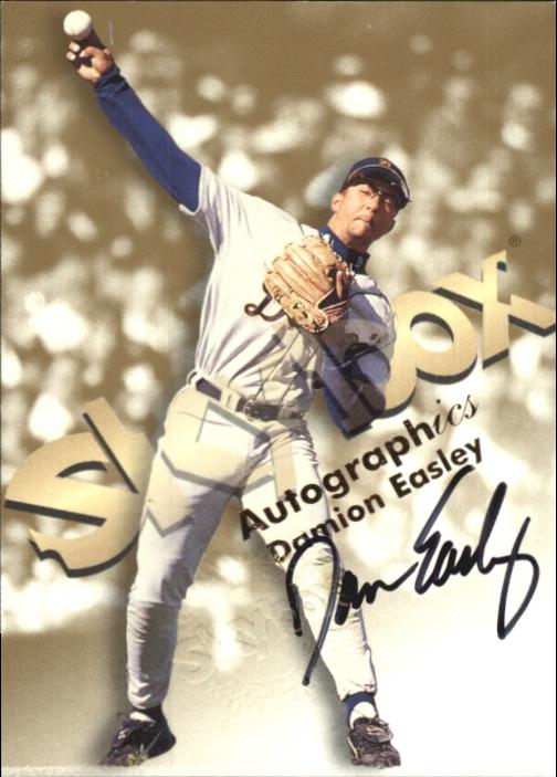 1999 SkyBox Premium Autographics #14 Damion Easley