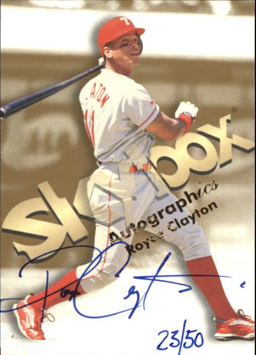 1999 SkyBox Premium Autographics Blue Ink #10 Royce Clayton
