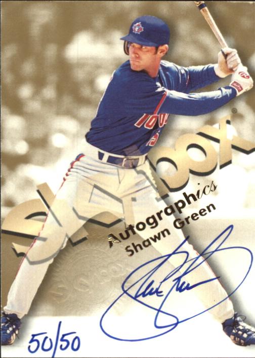 1999 SkyBox Premium Autographics Blue Ink #21 Shawn Green