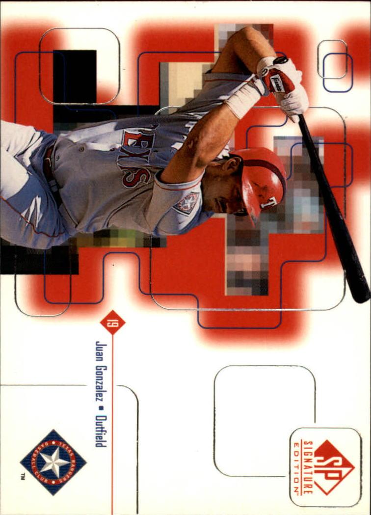 1999 SP Signature #5 Juan Gonzalez