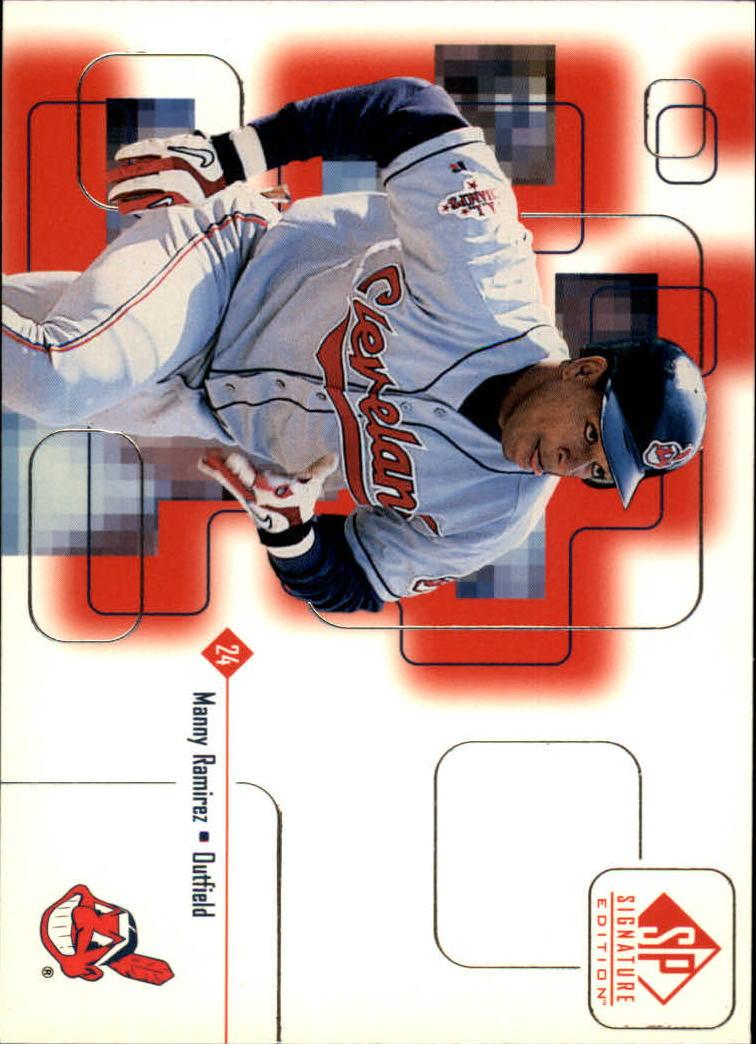 1999 SP Signature #25 Manny Ramirez