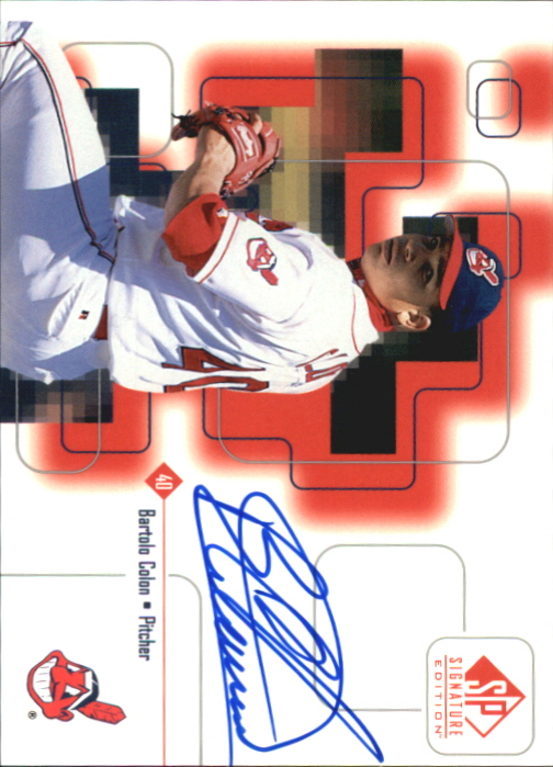 1999 SP Signature Autographs #BCO Bartolo Colon