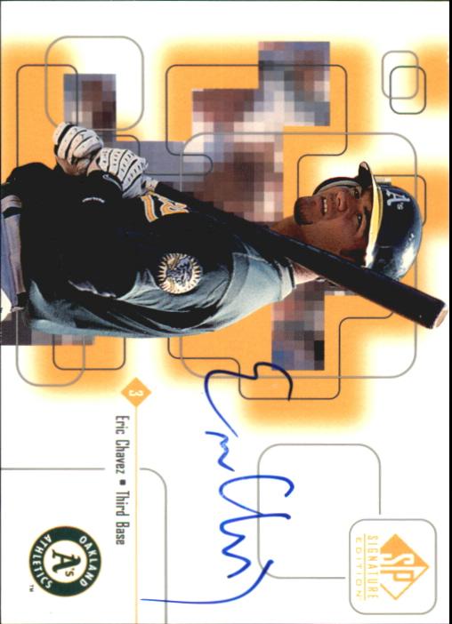 1999 SP Signature Autographs #EC Eric Chavez