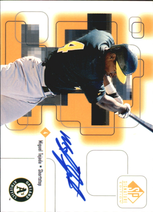 1999 SP Signature Autographs #MT Miguel Tejada