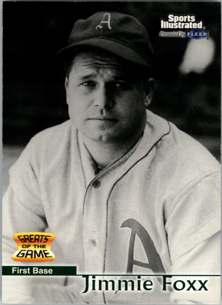 1999 Sports Illustrated Greats of the Game #1 Jimmie Foxx
