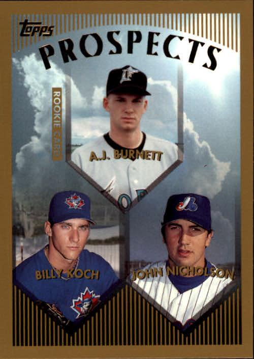 1999 Topps #437 A.J. Burnett RC
