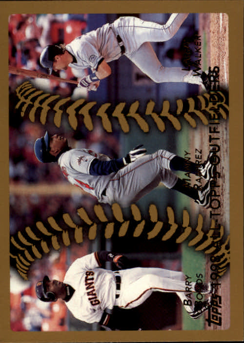 1999 Topps #455 Bonds/Ramirez/Walker AT
