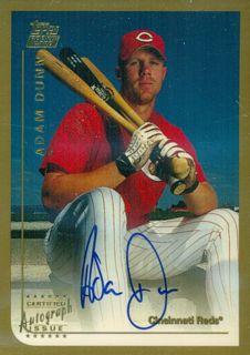 1999 Topps Traded Autographs #T50 Adam Dunn