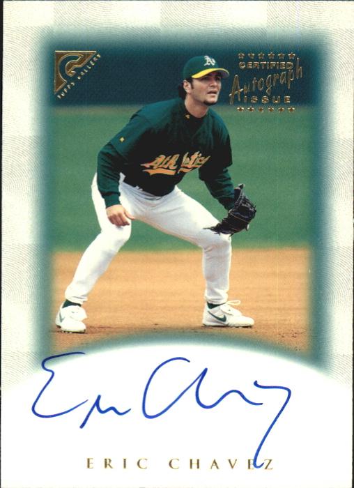 1999 Topps Gallery Autographs #GA3 Eric Chavez