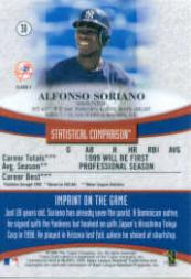 1999 Topps Gold Label Class 1 Black #30 Alfonso Soriano back image