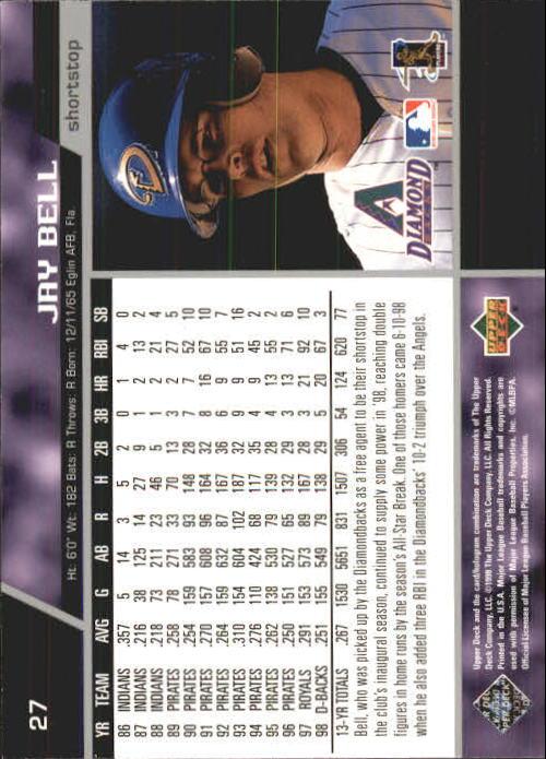 1999 Upper Deck #27 Jay Bell back image
