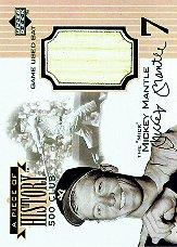1999 Upper Deck A Piece of History 500 Club #MM Mickey Mantle