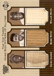 1999 Upper Deck A Piece of History 500 Club #ARM Hank Aaron/Babe Ruth/Willie Mays SP
