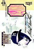 1999 Upper Deck A Piece of History 500 Club Autographs #EMAU Eddie Mathews/41