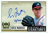1999 Upper Deck Century Legends Epic Signatures Century #GM Greg Maddux