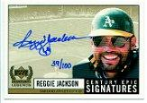 1999 Upper Deck Century Legends Epic Signatures Century #RJ Reggie Jackson