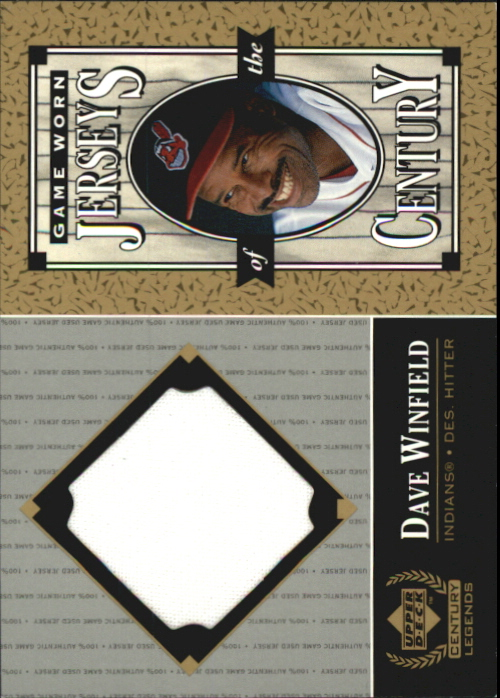 1999 Upper Deck Century Legends Jerseys of the Century #DW Dave Winfield