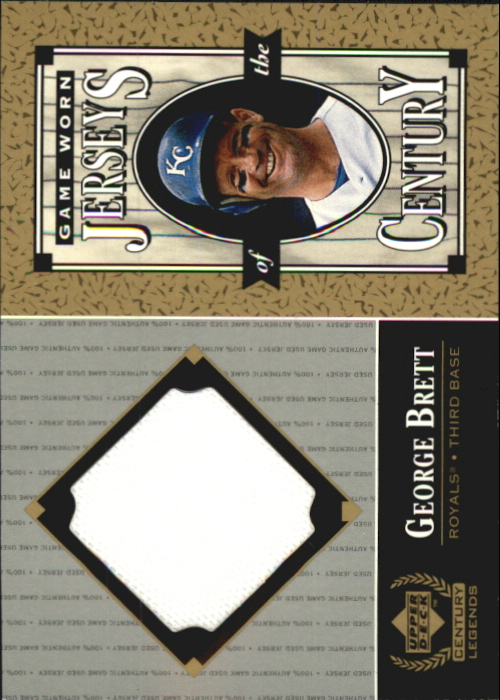 1999 Upper Deck Century Legends Jerseys of the Century #GB George Brett