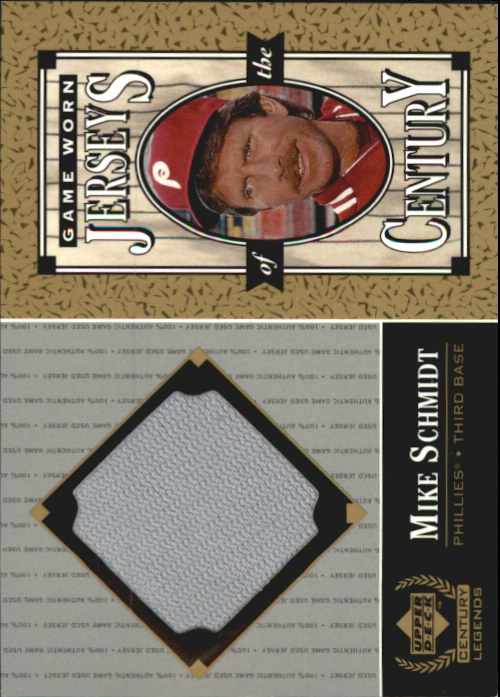 1999 Upper Deck Century Legends Jerseys of the Century #MS Mike Schmidt