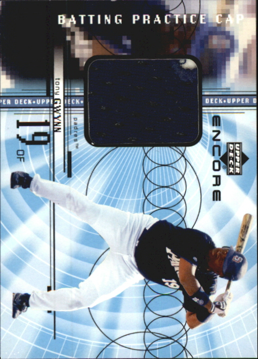 1999 Upper Deck Encore Batting Practice Caps #CTG Tony Gwynn