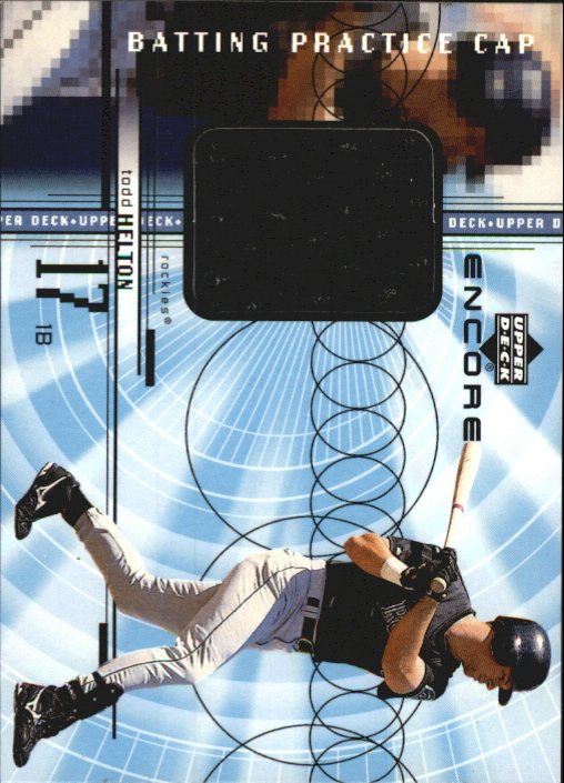 1999 Upper Deck Encore Batting Practice Caps #CTH Todd Helton