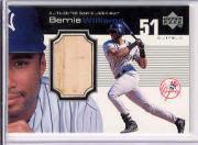 1999 Upper Deck Ovation A Piece of History #BW Bernie Williams