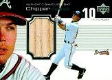 1999 Upper Deck Ovation A Piece of History #CJ Chipper Jones