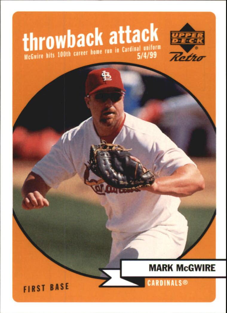 1999 Upper Deck Retro Throwback Attack #T2 Mark McGwire