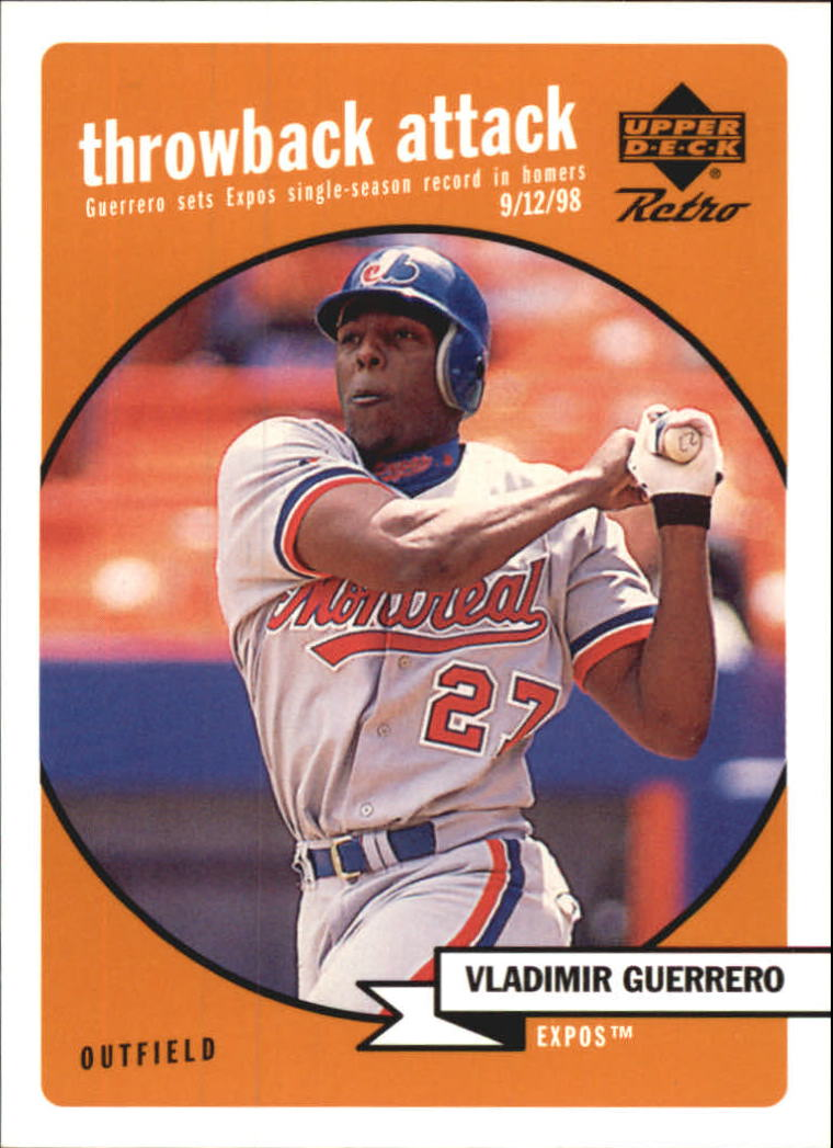1999 Upper Deck Retro Throwback Attack #T14 Vladimir Guerrero